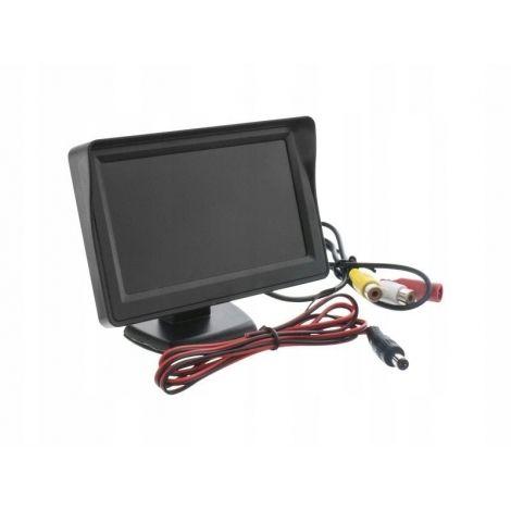 Monitor TFT LCD 4,3'' do kamery cofania 12V 2x VIDEO