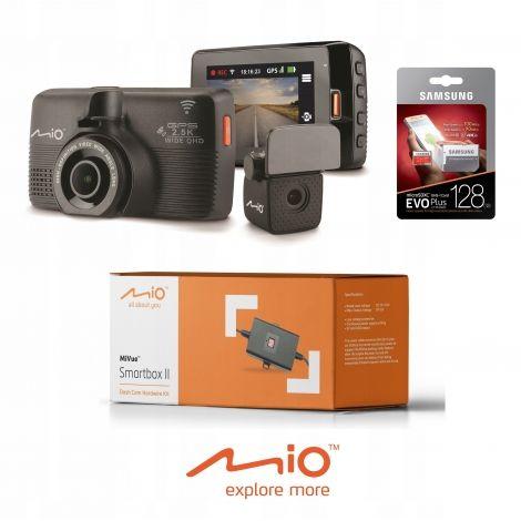 Kamera samochodowa MIO MiVue 798 Dual SONY STARVIS +128GB +Smartbox II CAŁY ZESTAW